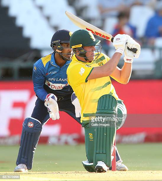 AB de Villiers of the Proteas during the 3rd KFC T20 International between South Africa and Sri Lanka at PPC Newlands on January 25 2017 in Cape Town...