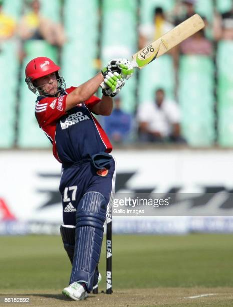 AB de Villiers on his way to a century during the IPL T20 match between Chennai Super Kings and Delhi Daredevils from Sahara Park on April 23 2009 in...