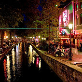 De Wallen red light district in Amsterdam, Holland