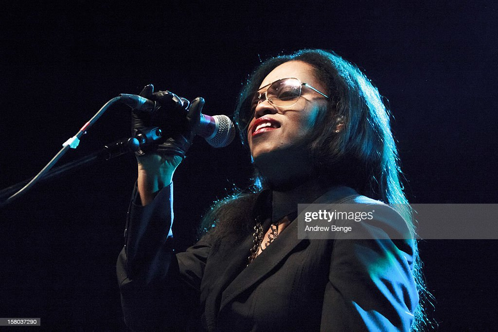 N'dea Davenport of The Brand New Heavies performs on stage at HMV Ritz on December 9, 2012 in Manchester, England.