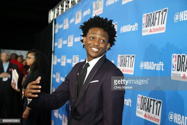 De'Aaron Fox on the red carpet prior to the 2017 NBA Draft on June 22 2017 at Barclays Center in Brooklyn New York NOTE TO USER User expressly...
