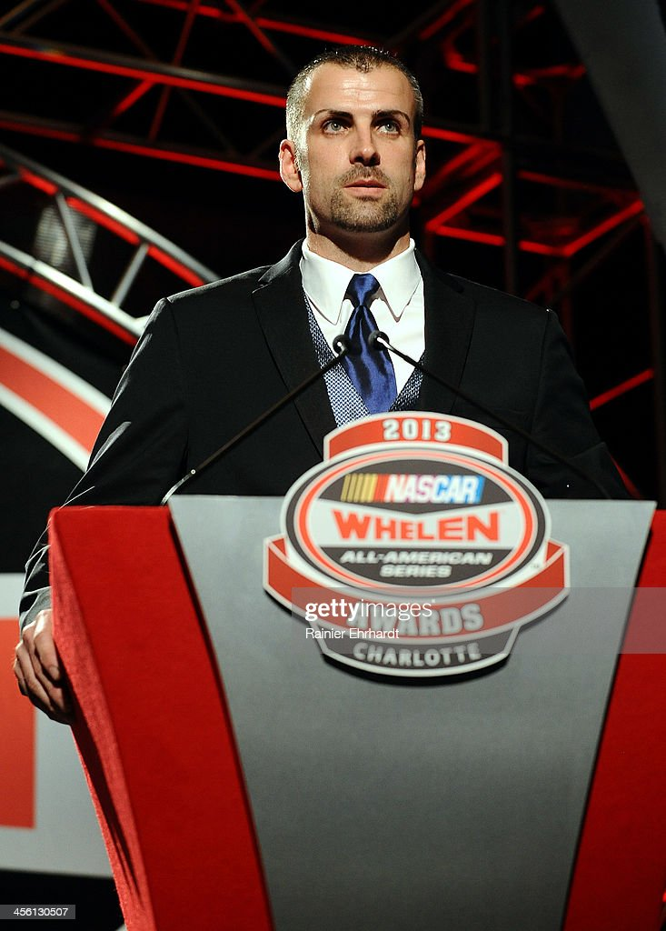 Deac McCaskill, NASCAR All-American Series runner-up, speaks during the NASCAR All-American Series Awards at Charlotte Convention Center on December 13, 2013 in Charlotte, North Carolina.
