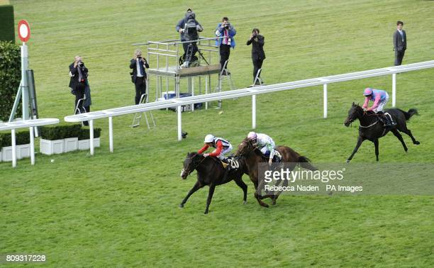 Deacon Blues ridden by Johnny Murtagh wins the Wokingham Stakes from Waffle ridden by Fran Berry during Day Five of the 2011 Royal Ascot Meeting