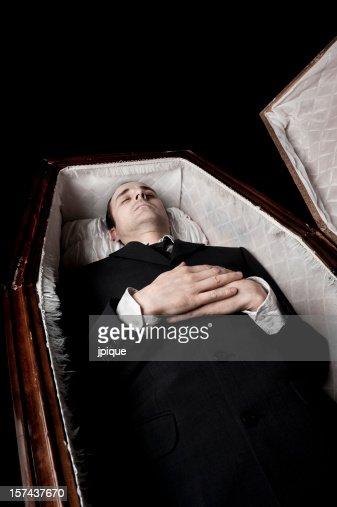 dead body in a coffin stock photo getty images