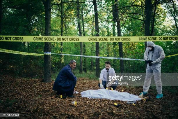 Dead body in the woods