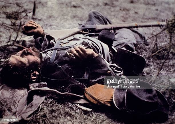 Dead Confederate Soldier of Ewell's Corps near Spotsylvania Courthouse Virginia May 19 1864