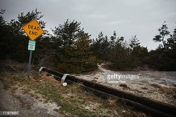 A 'dead end' sits on a road near a stretch of beach highway where police recently found human remains on April 5 2011 in Babylon New York Working on...