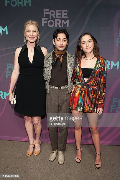 'Dead of Summer' cast members Elizabeth Mitchell Mark Indelicato and Zelda Williams attend the 2016 ABC Freeform Upfront at Spring Studios on April 7...