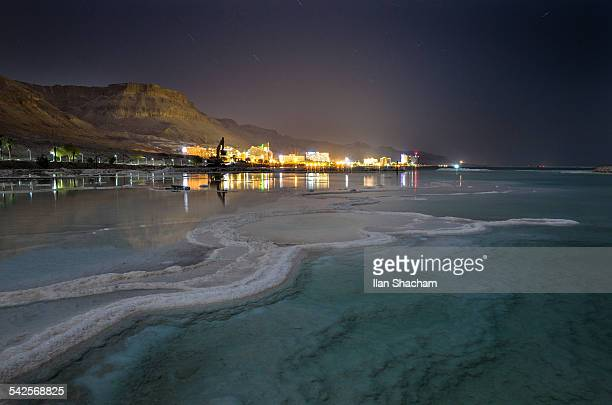 Dead Sea hotels in the moonlight
