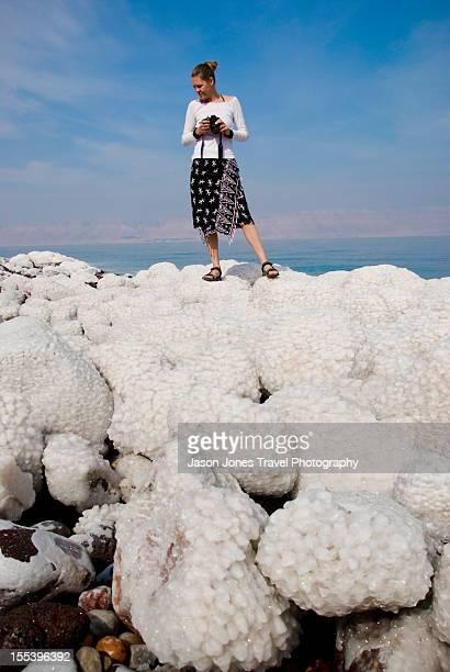 Dead Sea Salt covered rocks