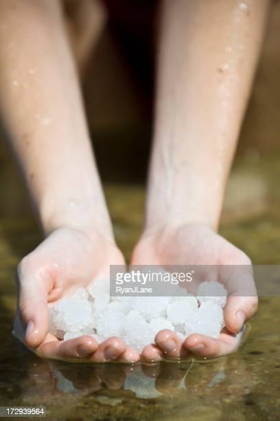 Cristaux de sel de la mer Morte