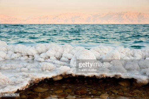 Dead Sea Salt Formations : Stock Photo