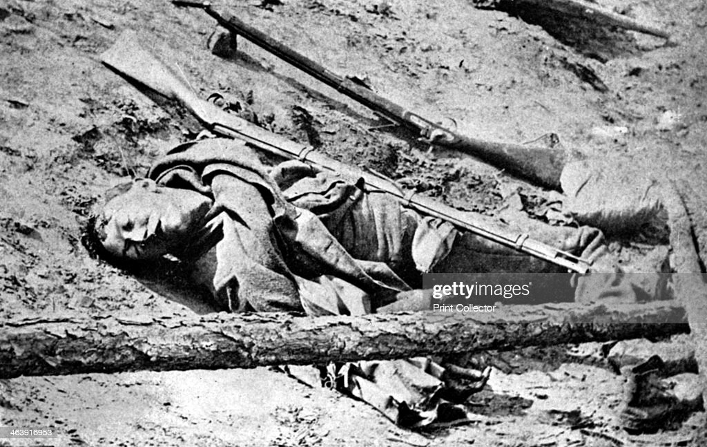 Dead soldier lying in the road at Fredericksburg Virginia American Civil War 3 May 1863