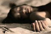 dead woman on the sand
