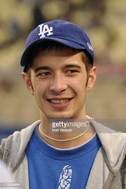 Deadliest Catch crew member Jake Harris attends a game between the Los Angeles Dodger and Atlanta Braves on April 18 2011 in Los Angeles California