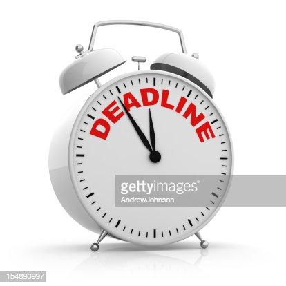 Deadline Alarm Clock : Stock Photo