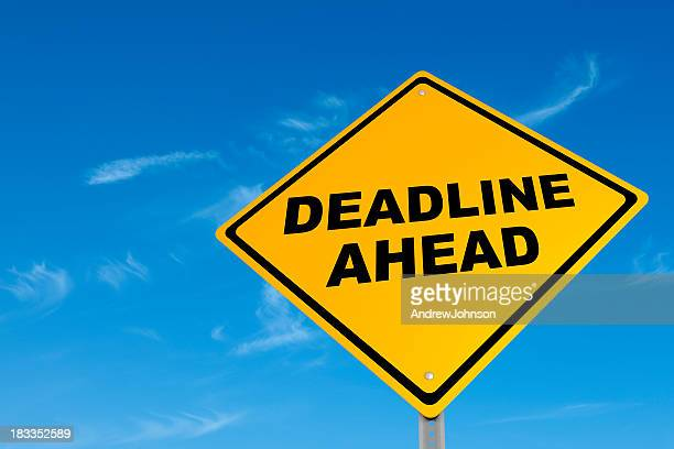 Deadline Street Sign