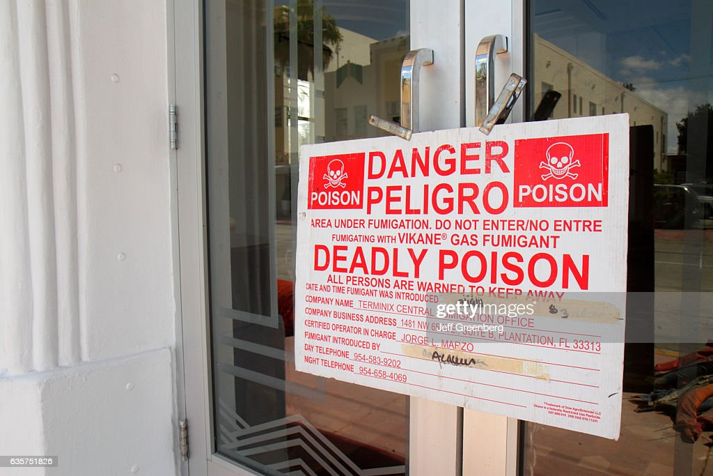 A deadly poison warning sign on the doors on the Savoy Hotel. & A deadly poison warning sign on the doors on the Savoy Hotel ...
