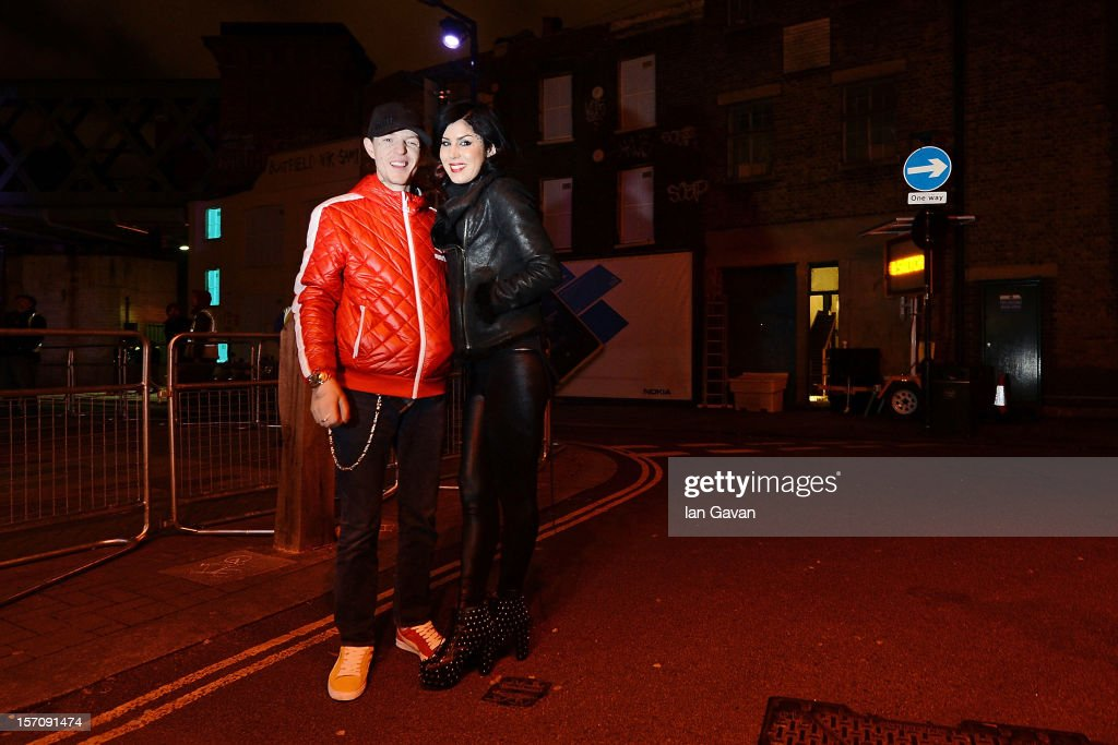 Deadmau5 and Kat Von D at the launch event of the New Nokia Lumia Range at Flat Iron Square on November 28 2012 in London England