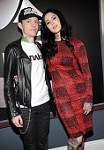 deadmau5 and Kat Von D attend the 55th Annual GRAMMY Awards at STAPLES Center on February 10 2013 in Los Angeles California