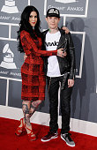DJ deadmau5 and Kat Von D attend the 55th Annual GRAMMY Awards at STAPLES Center on February 10 2013 in Los Angeles California