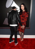 DJ deadmau5 and TV personality/tattoo artist Kat Von D attend the 55th Annual GRAMMY Awards at STAPLES Center on February 10 2013 in Los Angeles...