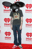 Deadmau5 arrives at iHeartRadio Music Festival press room at MGM Grand Garden Arena on September 22 2012 in Las Vegas Nevada