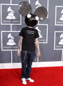 Deadmau5 arrives at The 54th Annual GRAMMY Awards at Staples Center on February 12 2012 in Los Angeles California