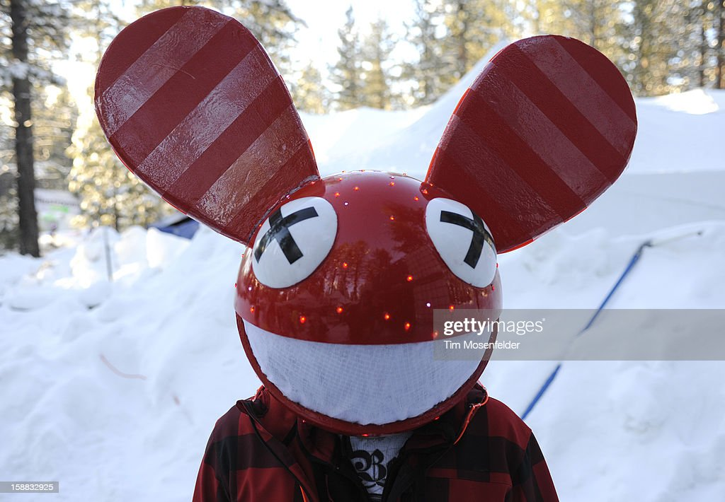 A Deadmau5 fan attends the Snowglobe Music Festival at Lake Tahoe Community College on December 30, 2012 in South Lake Tahoe, CA.