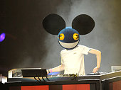 Deadmau5 performs at the Activision E3 2010 preview held at Staples Center on June 14 2010 in Los Angeles California