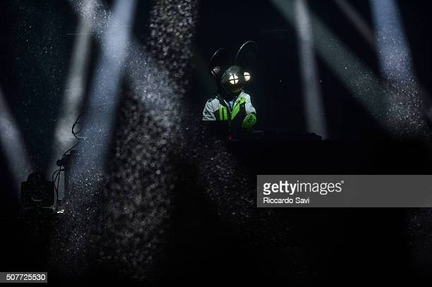 Deadmau5 performs at X Games Aspen 2016 on January 30 2016 in Aspen Colorado