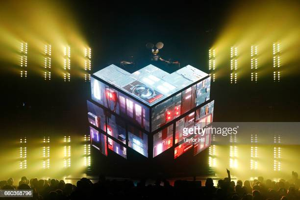 deadmau5 performs during the 'Lots of Shows in a Row' tour opener at Hammerstein Ballroom on March 29 2017 in New York City