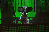Deadmau5 performs on stage during the iTunes Festival at The Roundhouse on September 9 2012 in London United Kingdom