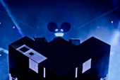 Deadmau5 performs on stage on Day1 of Wireless Festival at Hyde Park on July 6 2012 in London United Kingdom