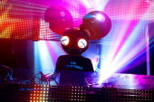 Deadmau5 performs onstage at a DJ Set by Deadmau5 at Park City Live on January 22 2012 in Park City Utah