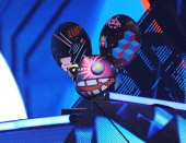 Deadmau5 performs onstage at Spike TV's '2011 Video Game Awards' at Sony Studios on December 10 2011 in Los Angeles California