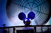 Deadmau5 performs onstage at What Stage during Day 2 of the 2015 Bonnaroo Music And Arts Festival on June 12 2015 in Manchester Tennessee