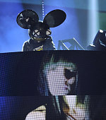 Deadmau5 with Colleen D'Agostino performs at the 2015 JUNO Awards at FirstOntario Centre on March 15 2015 in Hamilton Canada