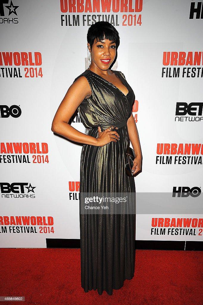 De'Adre Aziza attends 'Selma' Spotlight Conversation With Filmmaker Ava DuVernay 2014 Urbanworld Film Festival at AMC Loews 34th Street 14 theater on...