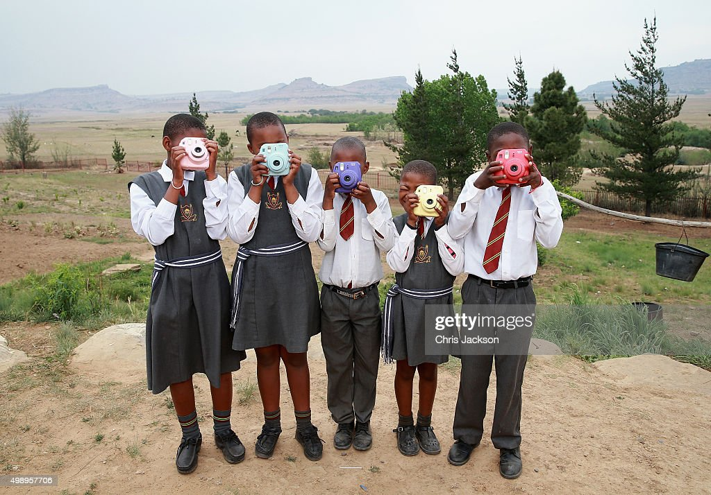 Deaf children use Fuji Instax Cameras during an instant photography session at Kananelo Centre School for the deaf on October 17, 2015 in Maseru, Lesotho. Getty Images have partnered with Prince Harry's Charity Sentebale to help bring photography to some of the vulnerable children of Lesotho. In an ongoing project and with the Support of Fujifilm Getty Images has helped develop and run lessons with children at the new Sentebale Mamohato Children's Centre as a way of helping develop interpersonal, creative and communication skills amongst some of the most disadvantaged children in the world. Sentebale was founded by Prince Harry and Prince Seeiso of Lesotho ten years ago.