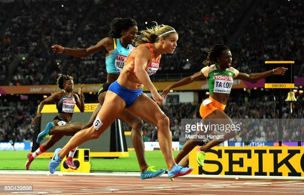 Deajah Stevens of the United States Dafne Schippers of the Netherlands Shaunae MillerUibo of the Bahamas and MarieJosee Ta Lou of the Ivory Coast...