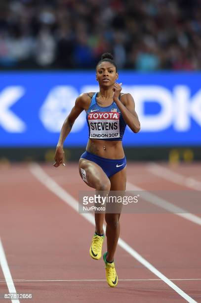 DeajahSTEVENS USA during 200 meter heats in London at the 2017 IAAF World Championships athletics on August 8 2017