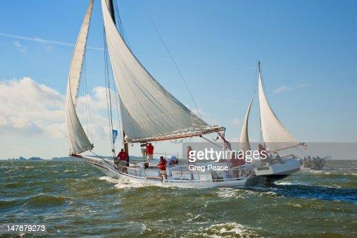 Deal Island annual Skipjack Race : Stock Photo