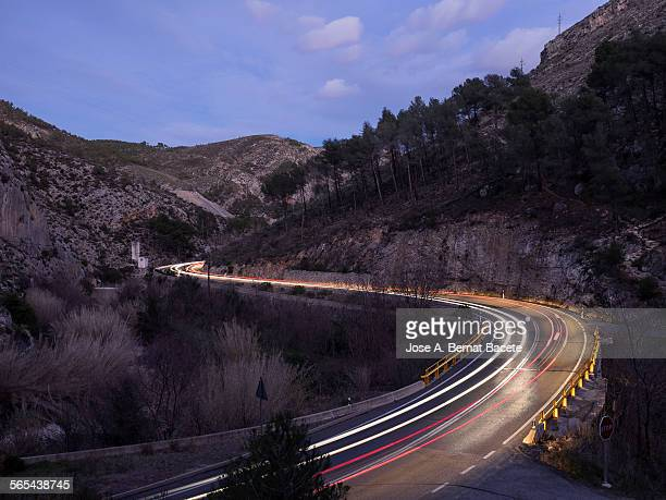 I deal with stelas of light for a road with curves
