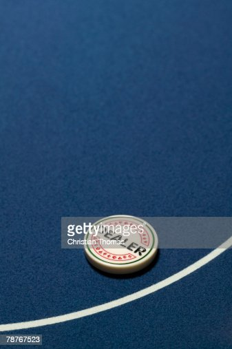 Dealer Button on a casino table