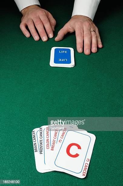 Dealer with cancer cards