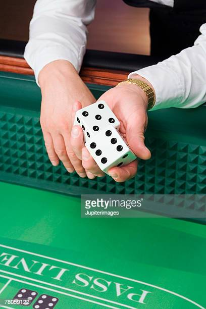 Dealer with oversized dice