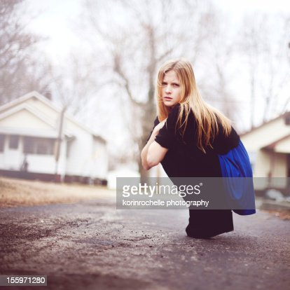 Dealing with the cold : Stock Photo