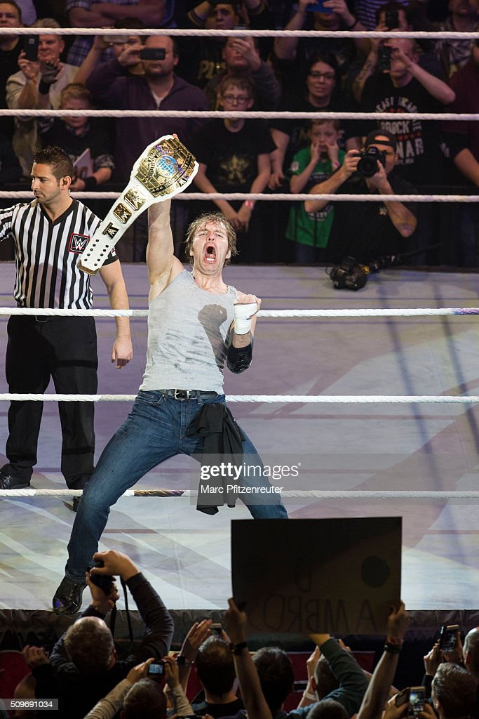 Dean Ambrose during WWE Road to WrestleMania at the Lanxess Arena on February 11, 2016 in Cologne, Germany.