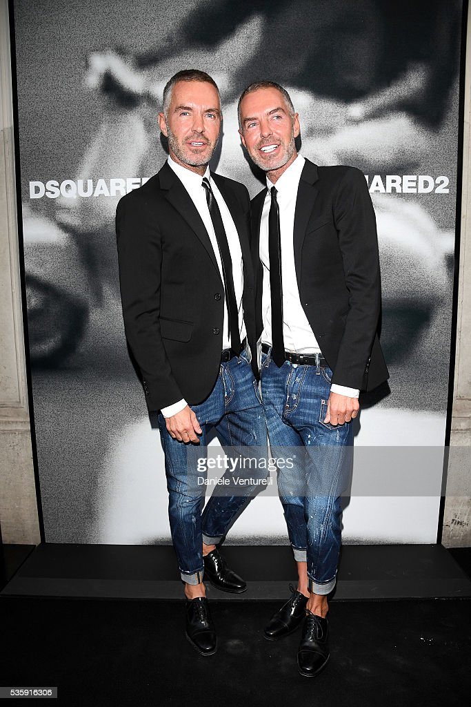 Dean and <a gi-track='captionPersonalityLinkClicked' href=/galleries/search?phrase=Dan+Caten&family=editorial&specificpeople=877354 ng-click='$event.stopPropagation()'>Dan Caten</a> attend Dsquared2 in-store cocktail on May 30, 2016 in Rome, Italy.